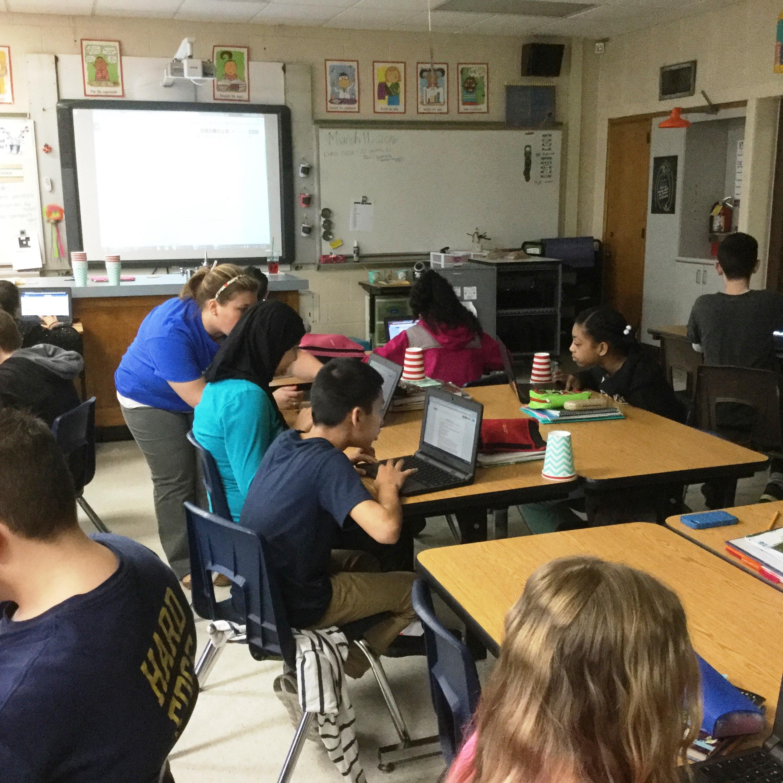 Ms. Pas & Ms. Masiarczyk help students begin their ePortfolio journeys