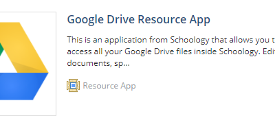 Using Google Drive Assignments in Schoology + Tips/Troubleshooting