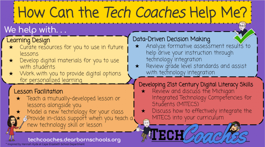 how can the tech coaches help graphic